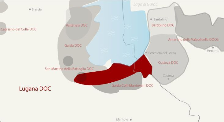 Lugana wines map
